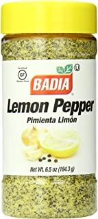Badia Lemon Pepper Seasoning, 6.5 Ounce (Pack of 12)