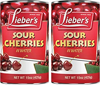 Lieber's Sour Cherries 15 Oz - Kosher For Passover (2-Pack)