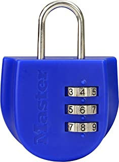 Master Lock Luggage Lock, Blue, 6mm