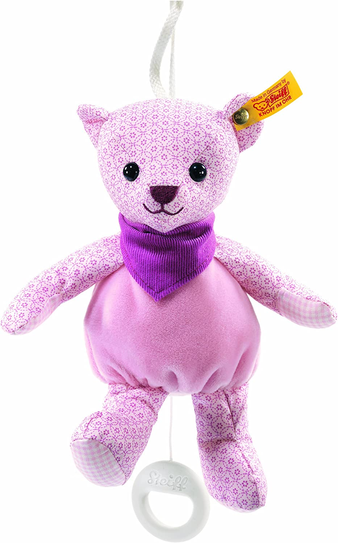 Steiff 20cm Little Circus Teddy Bear Music Box for Newborn (Pale Pink)