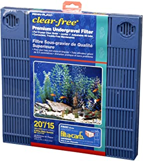 PENN-PLAX Clear-Free Premium Under Gravel Aquarium Filter (UGF) – Freshwater and Saltwater Safe – Suitable for 15 – 20 Gal...