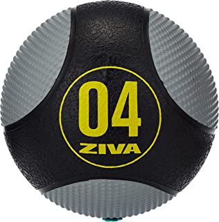 Ziva ZVZVO-CMMB-1924 Zvo Dual Texture Medicine Ball, 4 kg