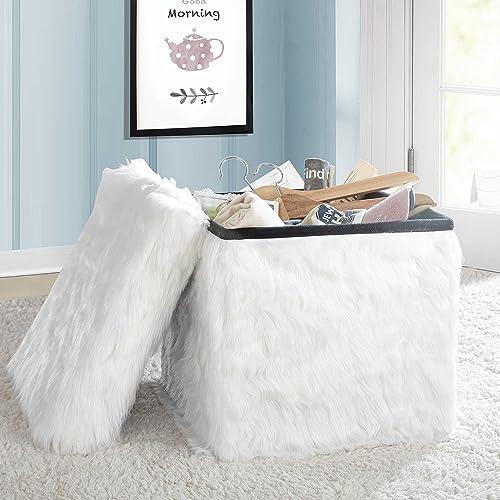 Swell Fuzzy Stool Amazon Com Machost Co Dining Chair Design Ideas Machostcouk