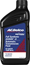 ACDelco 10-9243 Professional Dexron VI Full Synthetic Automatic Transmission Fluid – 1 qt