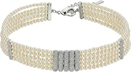 Nina - Multi Strand Pear Pave Bar Choker