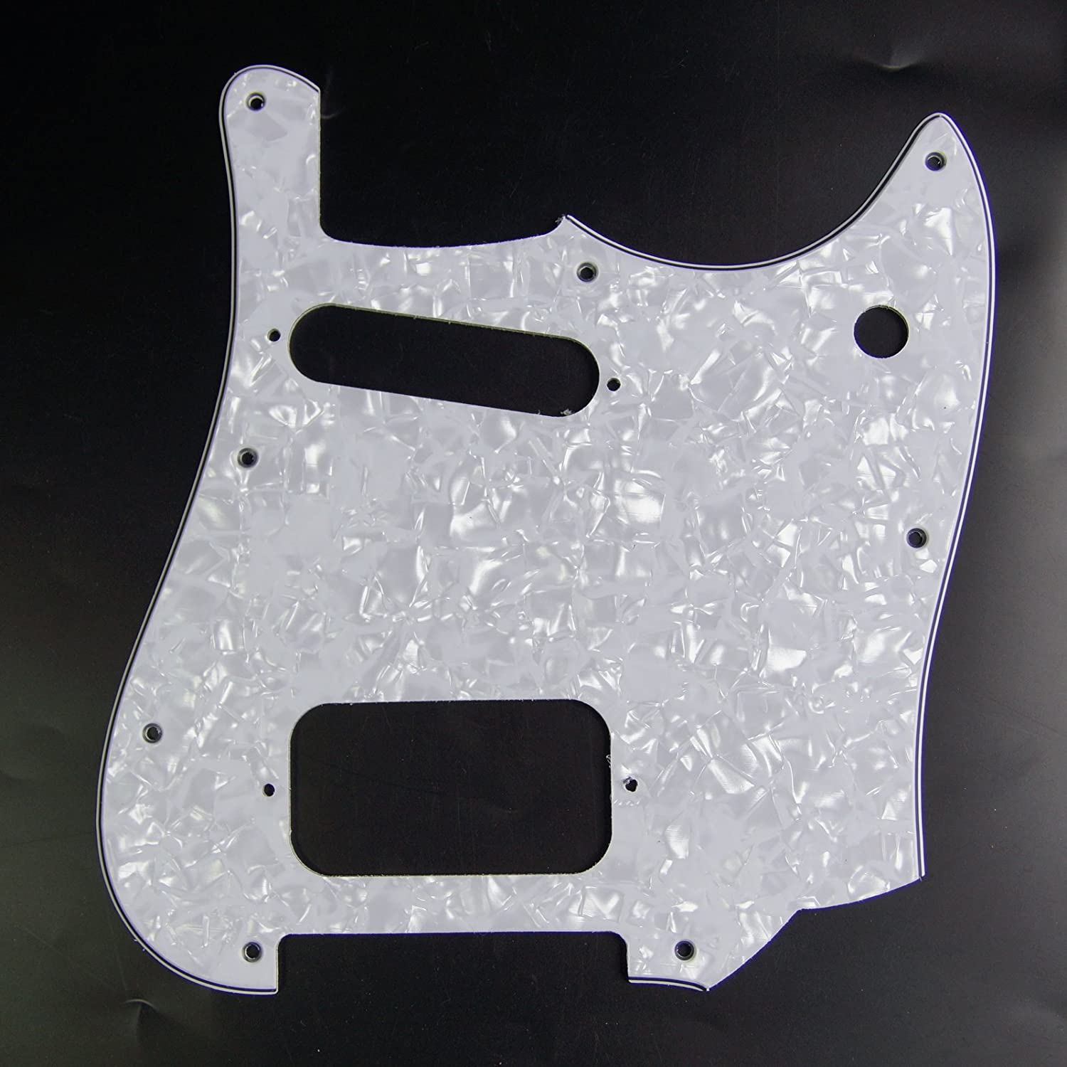Replacement Manufacturer regenerated product Guitar Pickguard In stock For Squire White 4ply Cyclone Pear
