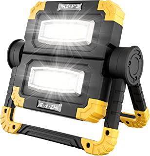 Rechargeable Work Light with 360° Rotation - Folding LED Floodlight 20W, Portable Waterproof Spotlight for Car Repairing, ...