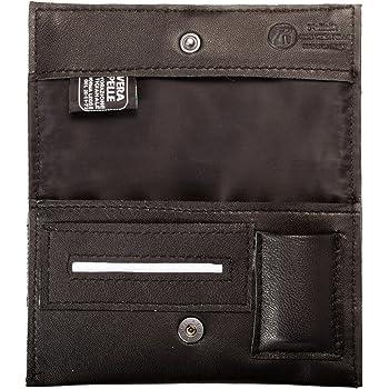 Pellein - Portatabacco in vera pelle Nero Hero - Astuccio porta tabacco, porta filtri, porta cartine e porta accendino. Handmade in Italy