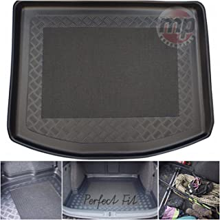 Trim for Secure Fit Large Heavy Duty Black Rubber Boot Mat Liner for Renault Trafic 01-03 One Piece, Double Passenger
