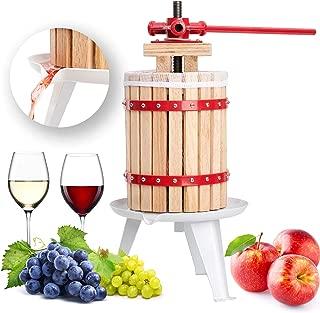Exprimidor de madera dura para hacer sidra de vino, manzana, 6 12 18 litros, 6 l, 12 l, 18 l 6 L rosso