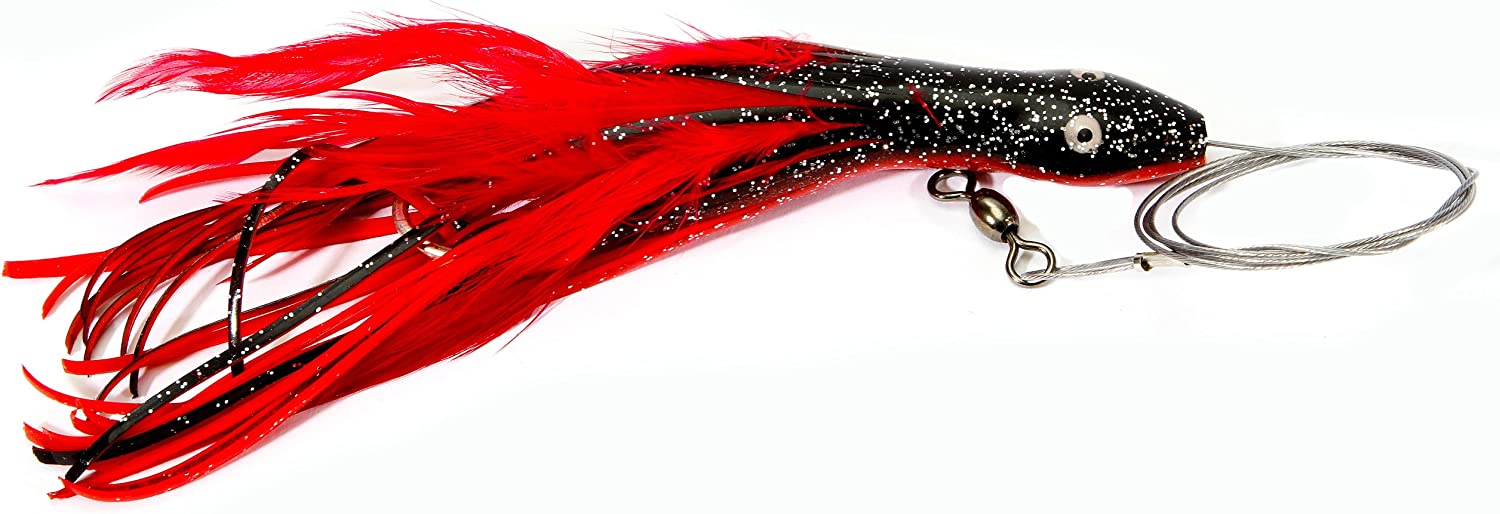 Boone Dolphin OFFicial site Wire Rigged Rig Red Black 6 1 2-Inch gift