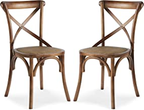 Poly and Bark Cafton Crossback Chair in Walnut (Set of 2)