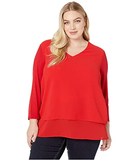 315d386763e MICHAEL Michael Kors Plus Size Multi Woven Layer Top at Zappos.com