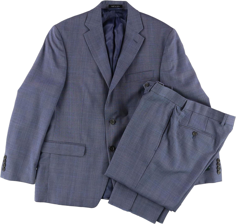 Ralph Lauren Mens Check Formal Tuxedo, Blue, 40 Short / 34W x 35L