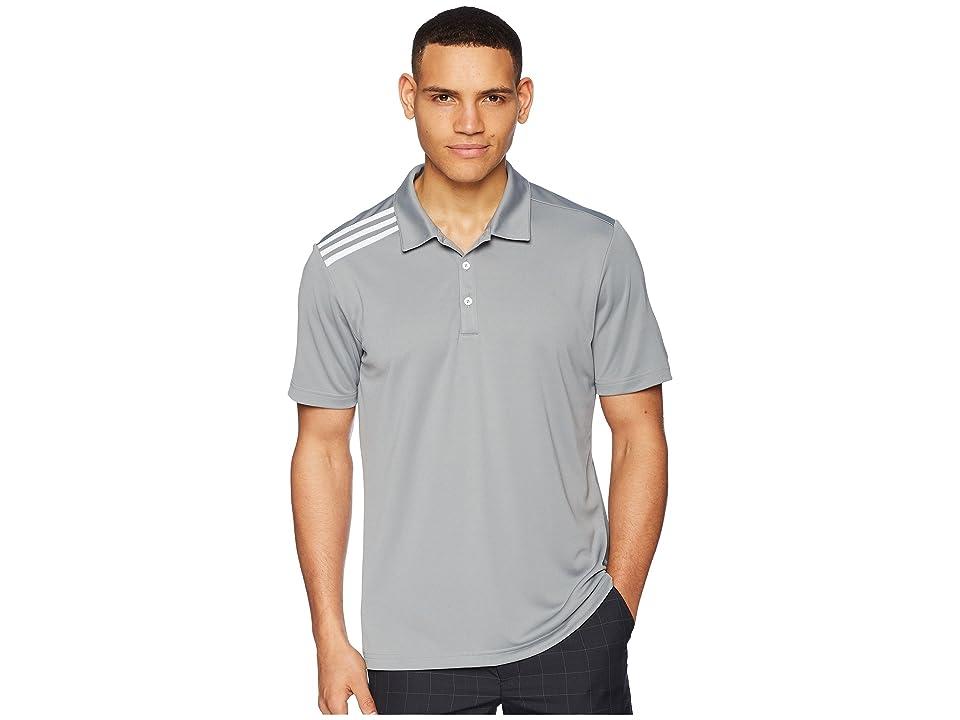 Image of adidas Golf 3-Stripes Polo (Grey Three) Men's Clothing