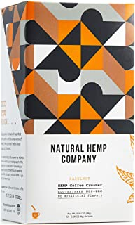 Natural Hemp Company Flavored Coffee Creamer | 12 Packets | Hazelnut | Gluten Free Superfood Hemp Protein, Non GMO, No Artificial Ingredients, Individual Packets