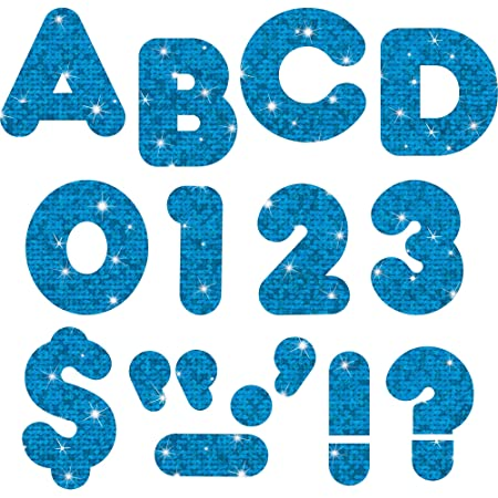 Inc 79744 Pin-up Ready Letters Blue 4-Inch Trend enterprises Pre-punched
