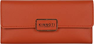 Kinnoti London Wallet for PU Leather Elegant Clutch Wllet Long Purse Multi Card Holder Organizer Tri-fold Wallet For Women And Girls Perfect For Party And Casual Use With Coin Pocket