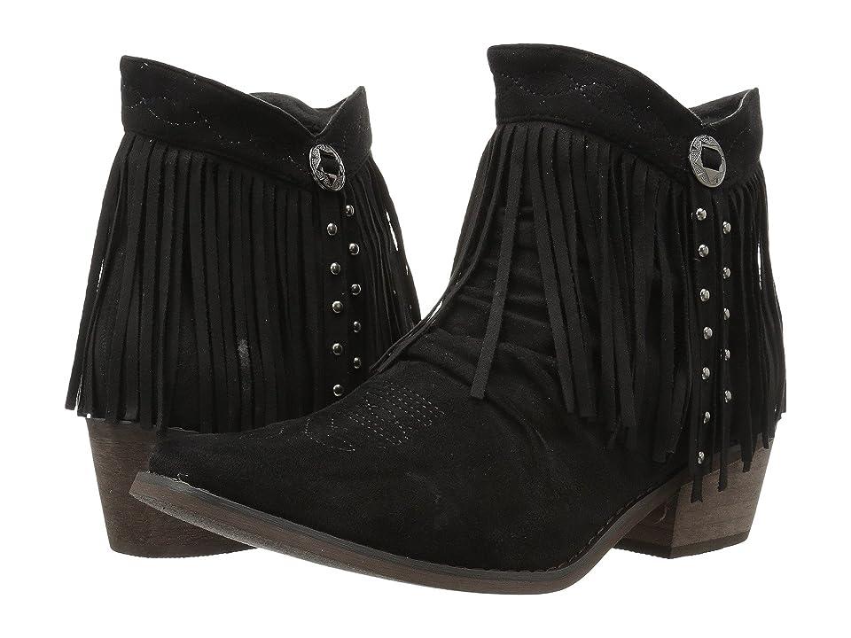 Roper Fringy (Faux Black Leather) Women