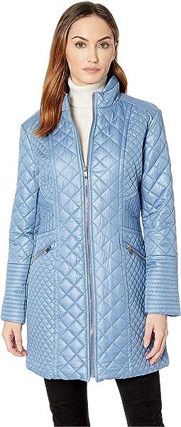 Stand Collar Quilt Coat