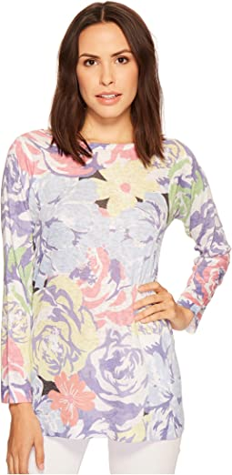 Nally & Millie - Long Sleeve Floral Print Top