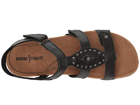 Minnetonka Bristol Black Leather
