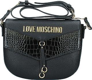Love Moschino JC4287PP0BKP100A, Bandolera para Mujer, Negro, Normale