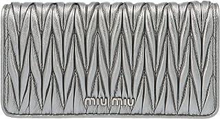 Miu Miu Women's 5DH029N88F0135 Silver Leather Clutch