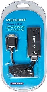 Conversor Vga M X Hdmi F C/ Áudio Multilaser - WI280