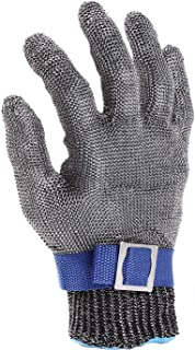 Cut Resistant Gloves-Stainless Steel Wire Metal Mesh Butcher Safety Work Gloves for Meat Cutting, fishing (Large)