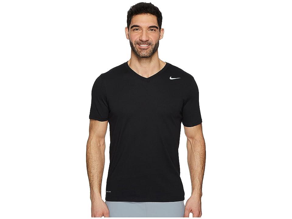Nike Dry Training V-Neck T-Shirt (Black) Men