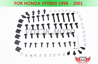 Orange /& Silver VITCIK Full Fairings Bolt Screw Kits for Yamaha YZF600 R6 2003 2004 YZF-600 YZF 600 R6 03 04 Motorcycle Fastener CNC Aluminium Clips