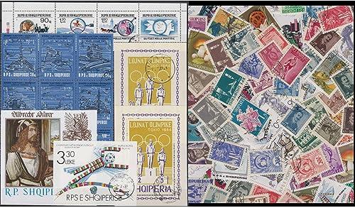 Goldhahn Albanien Kollektion gestempelt Briefmarken für Sammler