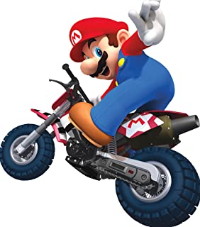 7 Inch Motorcycle Bike Super Mario Kart Wii Bros Brothers Removable Wall Decal Sticker Art Nintendo 64 SNES Home Kids Room Decor Decoration - 7 by 7 inches