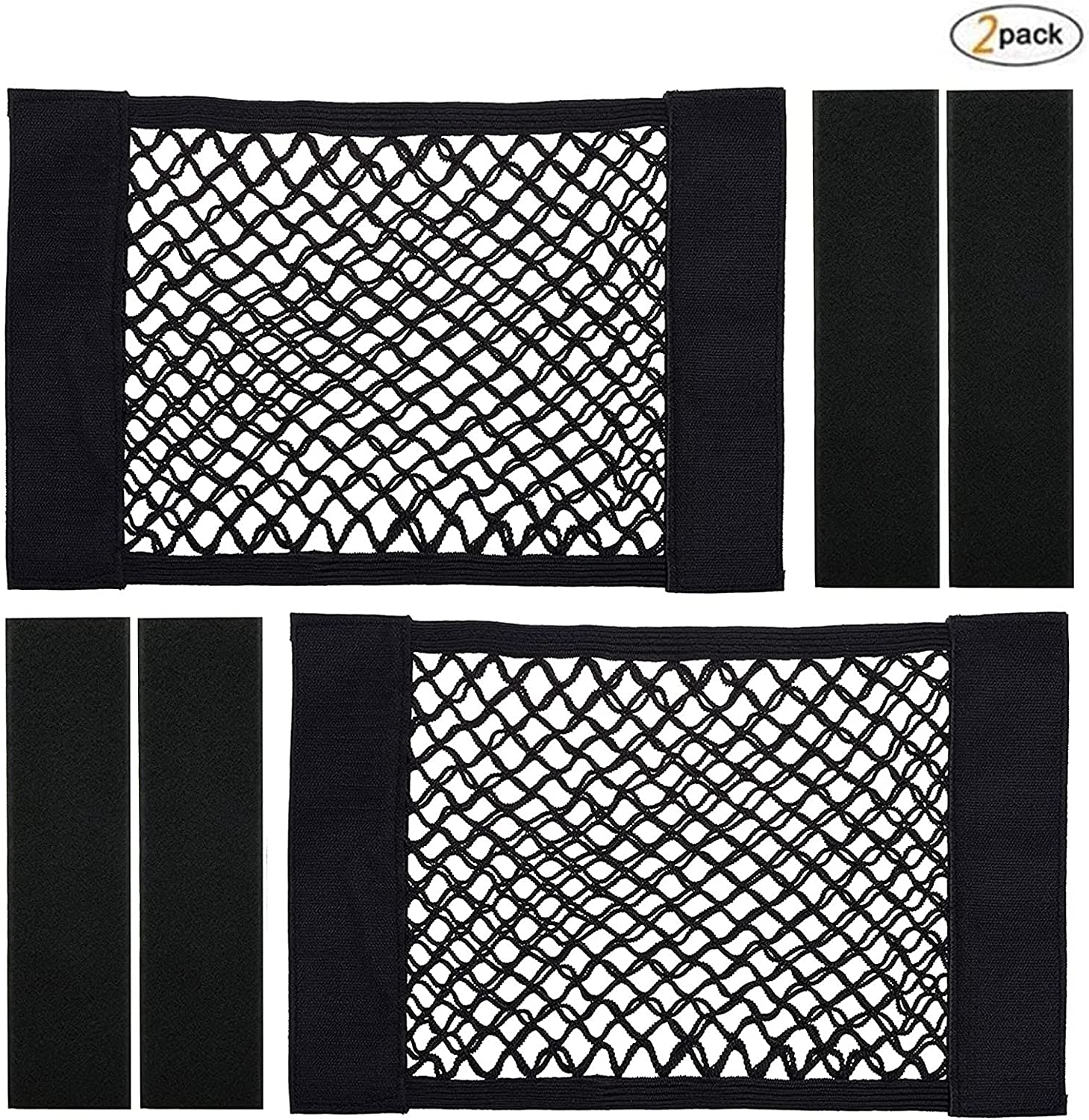 New product 2 Pack Trunk Storage Net Ne Car Cargo Reservation Mesh Universal