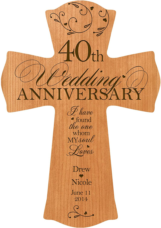 price LifeSong Milestones Price reduction Personalized 40th W Wedding Anniversary Wood