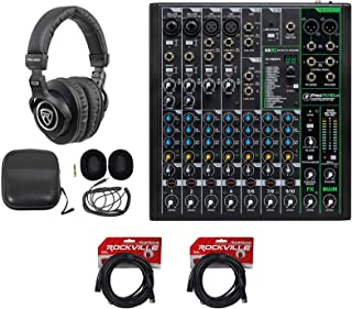 Mackie ProFX10v3 10-Channel Effects Mixer w/USB+Headphones+Cables ProFX10 v3