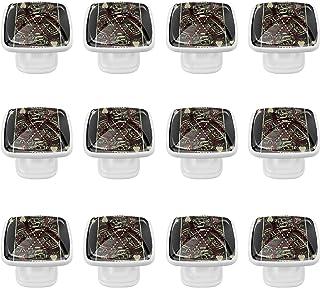 Boutons D'armoire 12 Pcs Poignés Poignée De Champignons Porte Poignées avec Vis pour Cabinet Tiroir Cuisine,Jouer au poker
