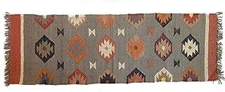 Handmade Rustic 2x6 Ft Handwoven Carpet Runner Large Area Reversible Floor Rug Kilim Wool Area Persian Turkish Yoga Carpet Living Room Handmade Outdoor Meditation Area Rug Carpet Handwoven Rug Pat106