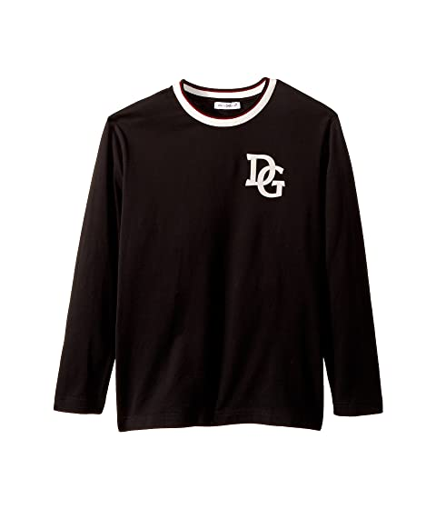 Dolce & Gabbana Kids Insignia Jersey Long Sleeve T-Shirt (Toddler/Little Kids)