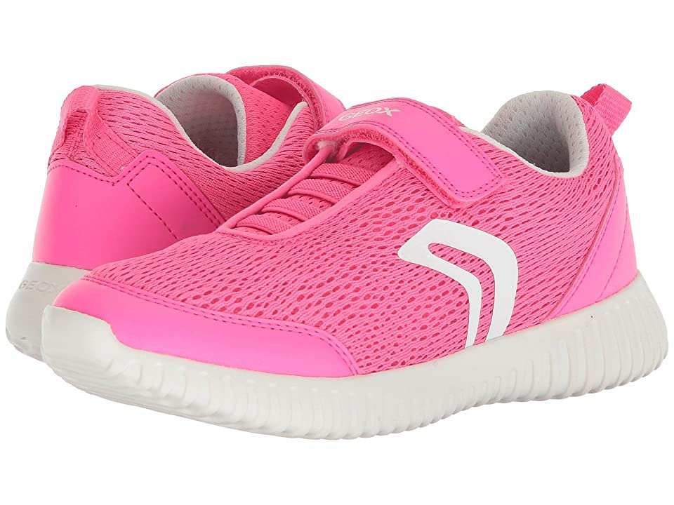 Geox Kids Waviness 3 (Big Kid) (Fluo Fuchsia) Girl