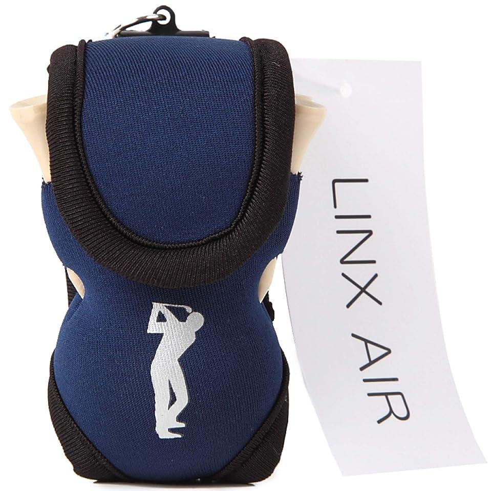 ラケットエアコンラッカス(LINX AIR) ゴルフポーチ ボールケース [ 正規品 ] ボール入れ 軽量 ティー付き 全6色 + ロゴなし2色
