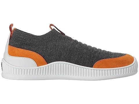 Z naranja Zegna sin zapatillas Techmerino Wave cordones gris ZArxZa0