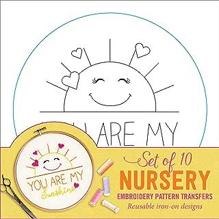 Nursery Embroidery Pattern Transfers (set of 10 hoop designs!)