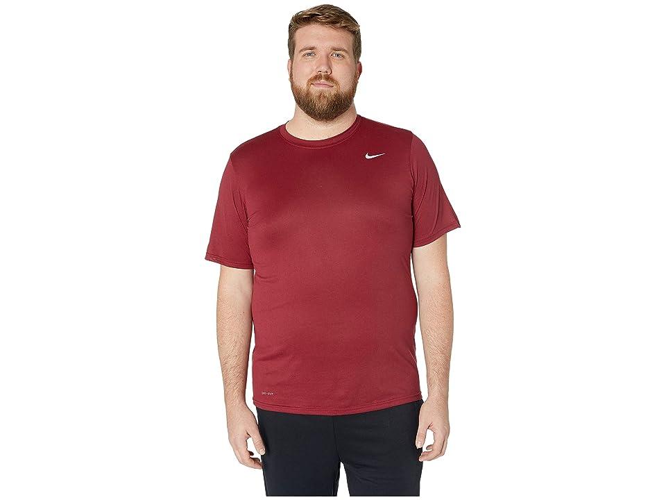 Nike Big Tall Legend 2.0 Short Sleeve Tee (Team Red/Black/Matte Silver) Men