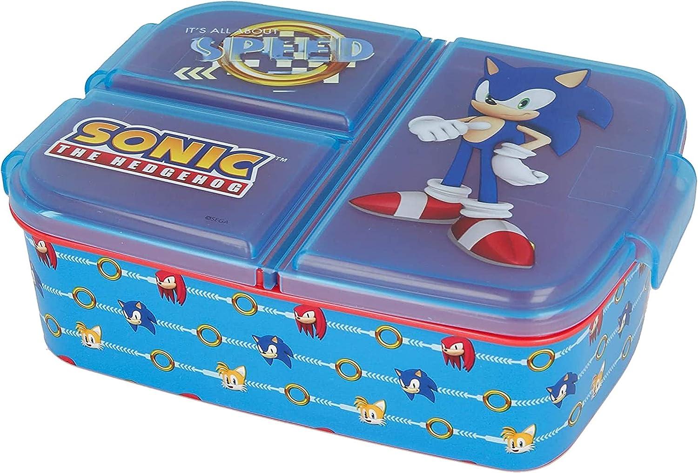 Fiambrera para niños / fiambrera / fiambrera a elegir: Frozen PJ Masks Spiderman Avengers - Mickey - Paw de plástico sin BPA - Gran regalo para niños (Sonic)