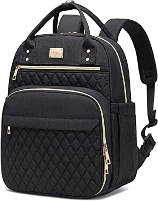 Lunch Bags for Women Insulated Waterproof Backpack Cooler with Side Pocket Lunch Compartment Backpack Adult Lunch Box Container for Work, School, Office, Beach, Picnic (Black)