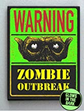 Zombie Outbreak Walking Dead Sign Glow In The Dark Framed Cool Art Movie Mini Poster