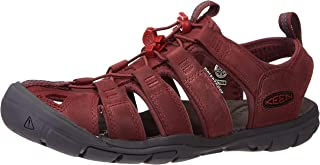 KEEN Women's Clearwater CNX Leather Sandal, Wine/Red Dahlia, 6.5 UK