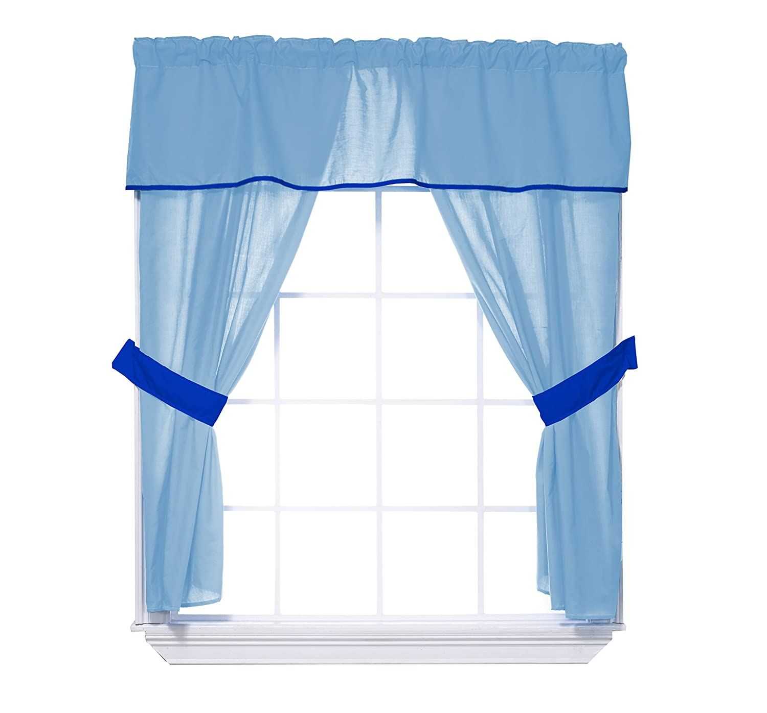 Super intense SALE Baby Doll Bedding Solid Two Curtain Tone 5-Piece Max 83% OFF Valance Window